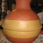 Voici le beau vase de Saboune en cours de polissage.