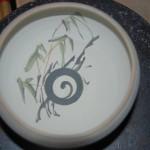 Décor d'un bol sur le thème des bambous.