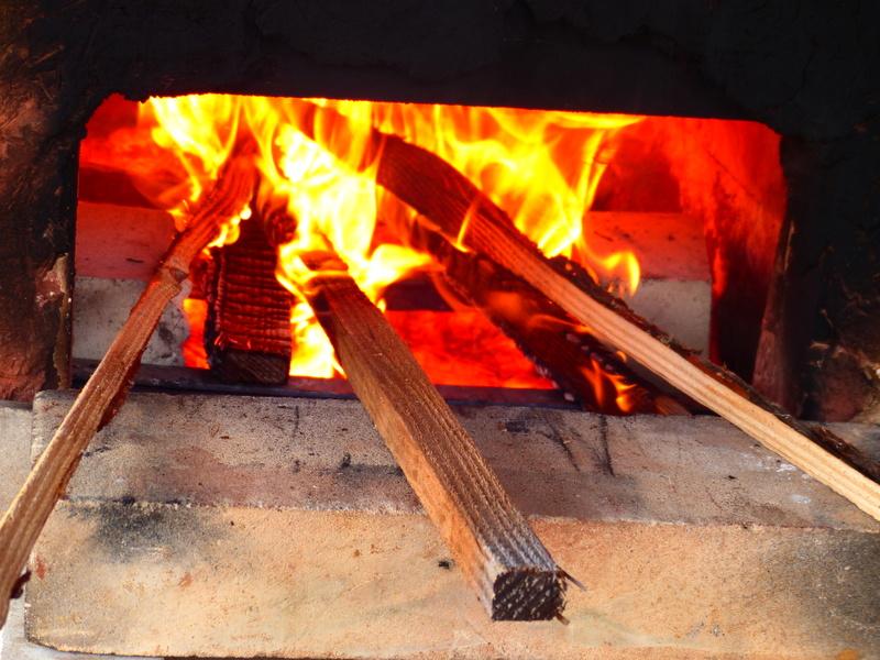 alandier du petit four à bois