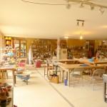 Intérieur d el'atelier